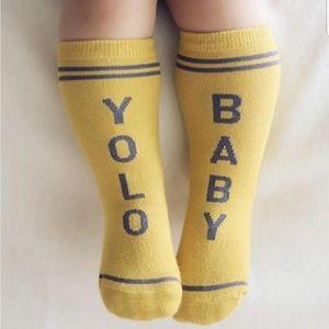 YOLO BABY socks